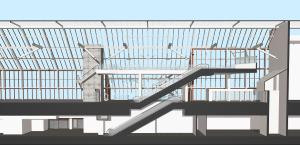 Drawing Through Existing Escalator